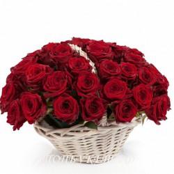Цветы в корзине - доставка в СПБ #0012