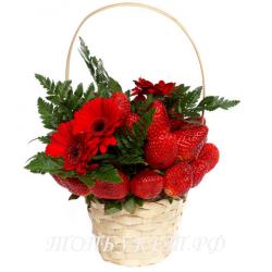 Цветы в корзине - доставка в СПБ #0011