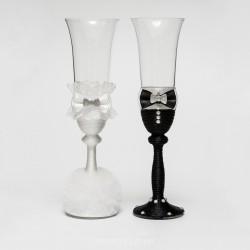 Купить свадебные бокалы №0004