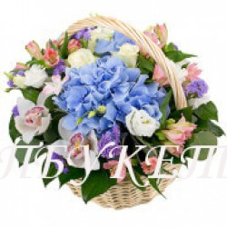 Цветы в корзине - доставка в СПБ #0003