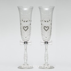 Купить свадебные бокалы №0002