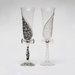 Купить свадебные бокалы №0005