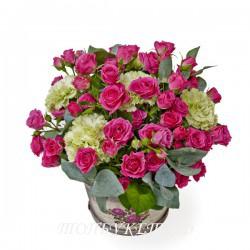 Цветы в корзине - доставка в СПБ #0014