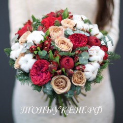 Свадебный букет невесты #0019