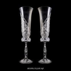 Купить свадебные бокалы №0006