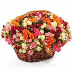 Цветы в корзине - доставка в СПБ #0013