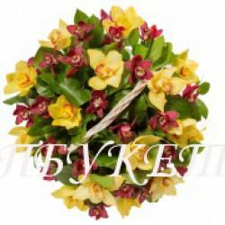 Цветы в корзине - доставка в СПБ #0005