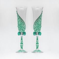 Купить свадебные бокалы №0009