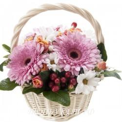 Цветы в корзине - доставка в СПБ #0010