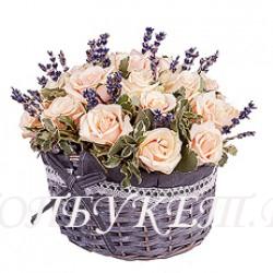 Цветы в корзине - доставка в СПБ #0038