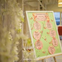 Свадебное оформление  №0001 ( Рассадка для гостей )