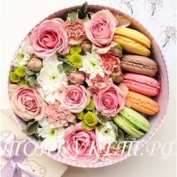 Цветы в корзине - доставка в СПБ #0019