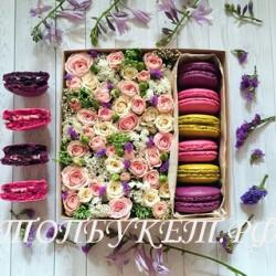 Цветы в корзине - доставка в СПБ #0017