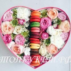 Цветы в корзине - доставка в СПБ #0018