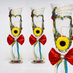 Купить свадебные бокалы №0012