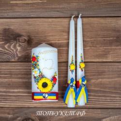 Купить свадебные свечи №0009 ( Семейный очаг )
