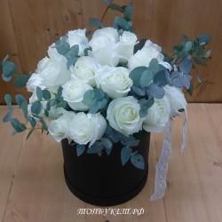 Цветы в корзине - доставка в СПБ #0016