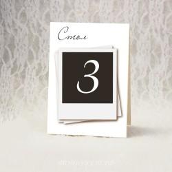 Купить номерки на столы #0015 ( Номерация столов )