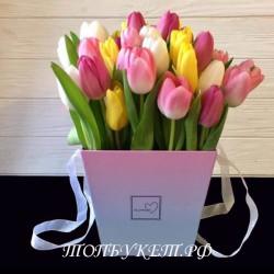 Цветы в корзине - доставка в СПБ #0009