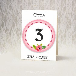 Купить номерки на столы #0010 ( Номерация столов )
