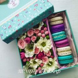 Цветы в корзине - доставка в СПБ #0006